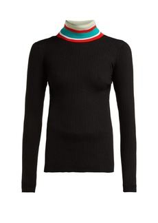 Proenza Schouler PSWL Striped roll-neck cotton sweater
