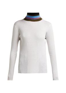 Proenza Schouler PSWL Striped roll neck cotton sweater