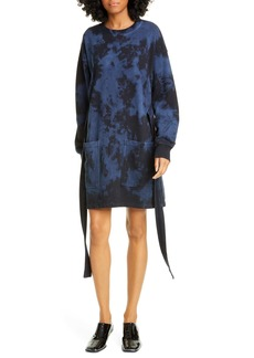 Proenza Schouler White Label Tie Dye Long Sleeve Sweatshirt Dress
