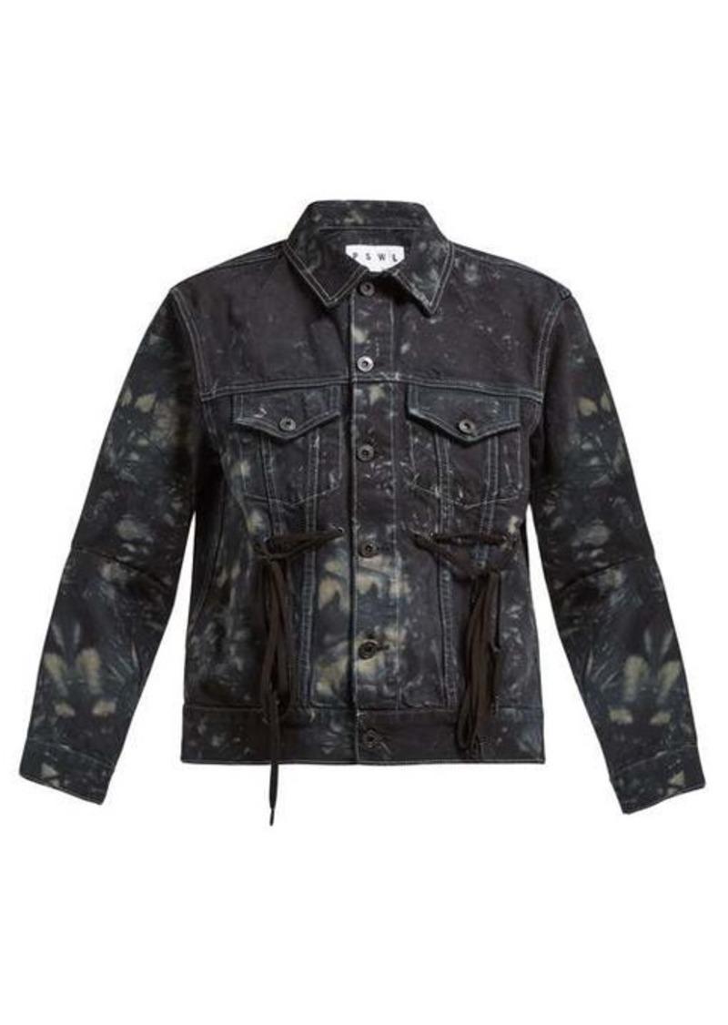 Proenza Schouler PSWL Tie-dye panelled denim jacket