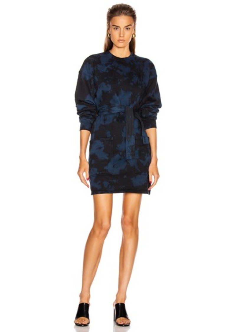 Proenza Schouler White Label Tie Dye Sweatshirt Dress