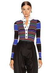 Proenza Schouler White Label Turtleneck Striped Sweater