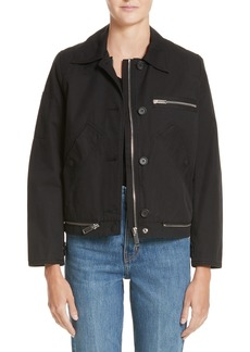 Proenza Schouler PSWL Washed Cotton Military Jacket