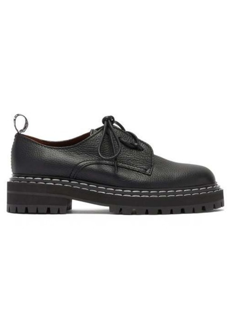 Proenza Schouler Raised-sole grained-leather derby shoes