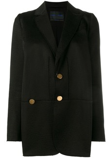 Proenza Schouler raw edge oversized jacket - Black