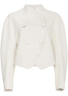 Proenza Schouler Re-edition wool cotton-blend double breasted jacket -