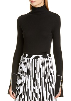 Proenza Schouler Rib Silk Blend Turtleneck Sweater