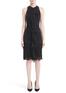 Proenza Schouler Ruffle Front Corded Lace Hem Dress