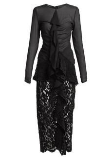 Proenza Schouler Ruffle front lace dress