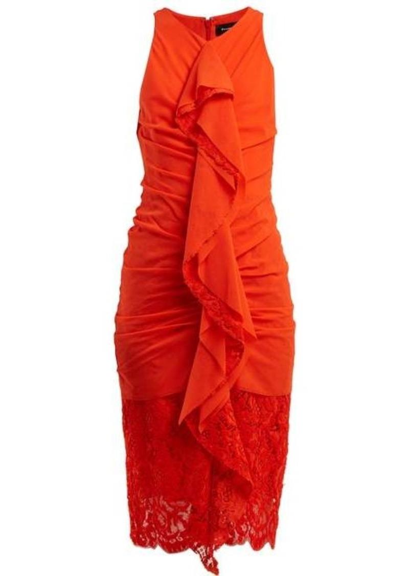 Proenza Schouler Ruffle lace cotton-blend midi-dress