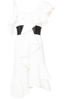 Proenza Schouler ruffle-trim dress - White