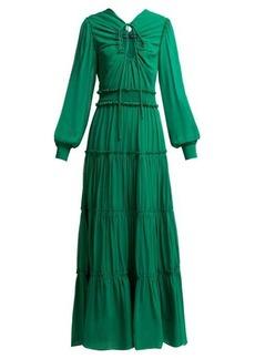 Proenza Schouler Ruffled long silk dress