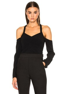 Proenza Schouler Satin Back Crepe Off Shoulder Top