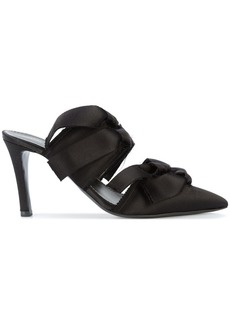 Proenza Schouler Satin High Mule with Ties