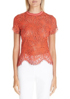 Proenza Schouler Scalloped Stretch Lace Top