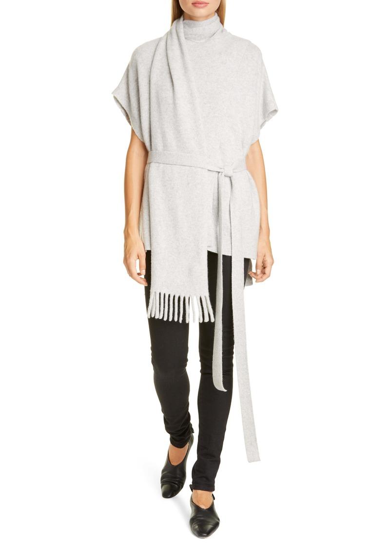 Proenza Schouler Short Sleeve Cashmere Scarf Sweater