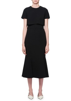 Proenza Schouler Short-Sleeve Midi Dress w/ Tee Detail