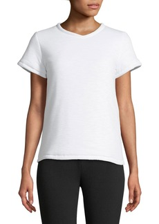Proenza Schouler Short-Sleeve Padded Cotton T-Shirt