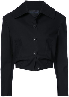 Proenza Schouler Single Breasted Cropped Jacket - Black