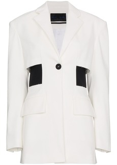 Proenza Schouler Single Breasted One Button Jacket - White