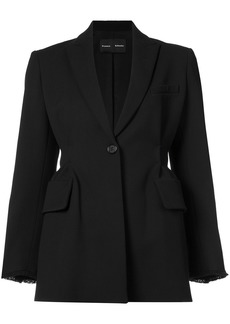 Proenza Schouler Single Breasted Waisted Jacket - Black