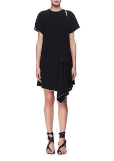 Proenza Schouler Slashed Short-Sleeve Crepe Dress