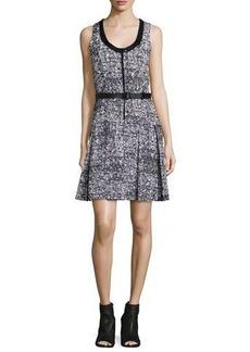 Proenza Schouler Sleeveless Belted Dress W/Contrast Trim