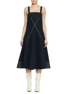 Proenza Schouler Sleeveless Cotton Square-Neck Dress