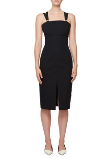 Proenza Schouler Sleeveless Crepe Sheath Cocktail Dress