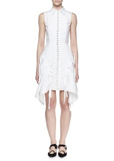 Proenza Schouler Sleeveless Embroidered Shirtdress