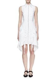 Proenza Schouler Sleeveless Embroidered Shirtdress