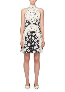 Proenza Schouler Sleeveless Floral-Print Hook Mini Dress