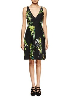 Proenza Schouler Sleeveless Floral-Print Sheath Dress