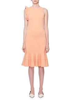 Proenza Schouler Sleeveless High-Neck Peplum-Hem Fitted Knit Dress