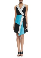 Proenza Schouler Sleeveless Leather Patchwork Dress