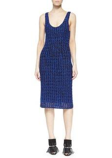 Proenza Schouler Sleeveless Open Crochet Tank Dress