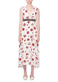 Proenza Schouler Sleeveless Poppy-Print Midi Dress