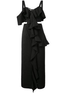 Proenza Schouler Sleeveless Ruffle Dress - Black