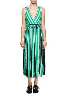 Proenza Schouler Sleeveless Wrap Midi Dress