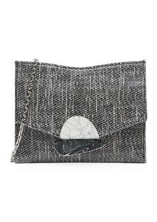 Proenza Schouler Small Curl Glossy Tweed Clutch Bag