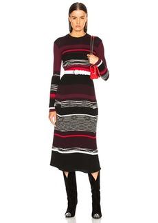 Proenza Schouler Space Dye Knit Midi Dress