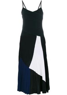 Proenza Schouler spaghetti straps tricolour dress - Black
