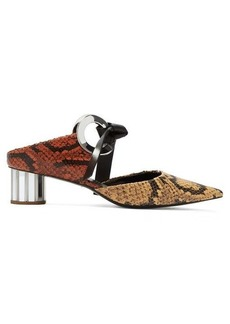 Proenza Schouler Spectra front-tie leather mules