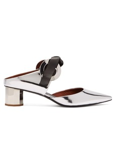 Proenza Schouler Spectra tie-front leather mules