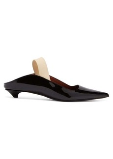 Proenza Schouler Spiaggia patent-leather slingback pumps