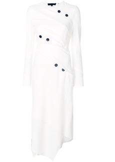 Proenza Schouler Spiral asymmetric midi dress - White