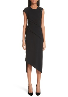 Proenza Schouler Spiral Detail Asymmetrical Crepe Dress