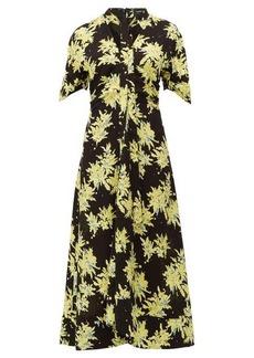 Proenza Schouler Splatter floral-print georgette dress