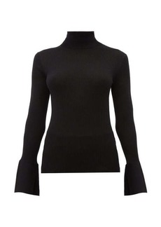 Proenza Schouler Split-cuff silk-blend roll-neck sweater