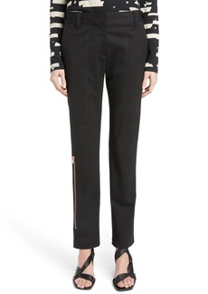 Proenza Schouler Stretch Wool Straight Leg Pants